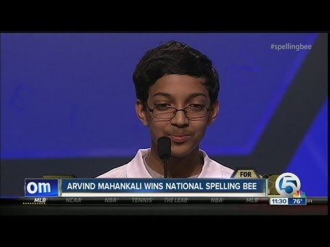 Arvind Mahankali wins National Spelling Bee