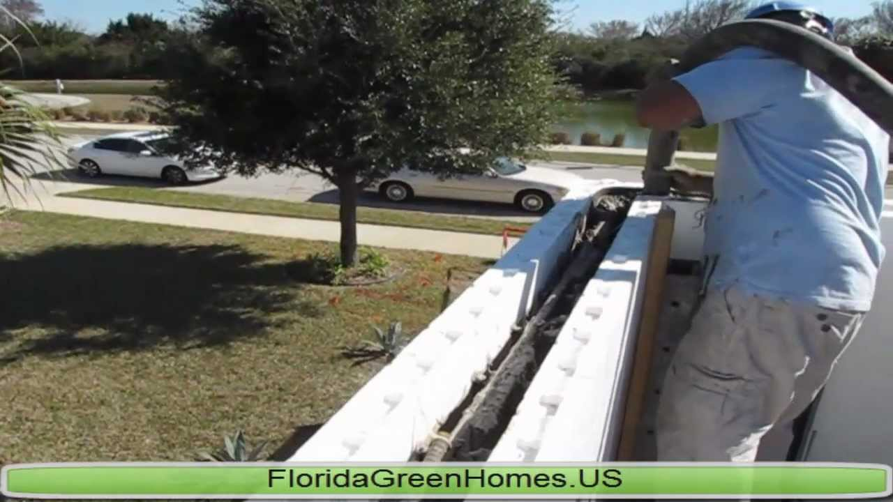 Icf hurricane resistant walls by florida green homes for Icf florida