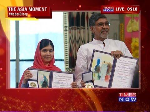 Malala Yousafzai and Kailash Satyarthi's Nobel Moment