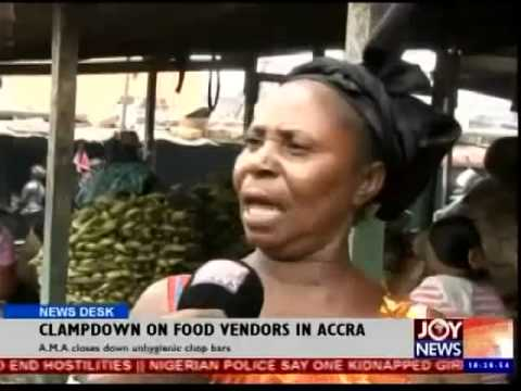 Clampdown on food Vendors in Accra - News Desk (26-9-14)