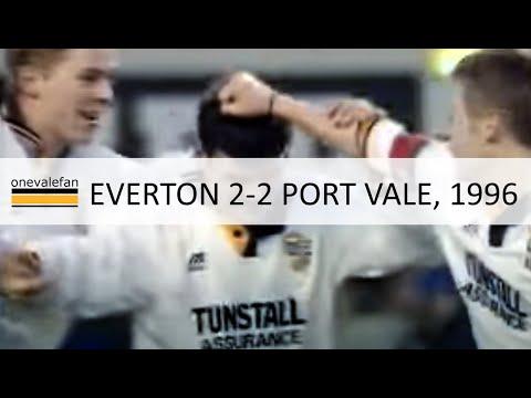 Everton 2-2 Port Vale, FA Cup, 27th Jan 1996