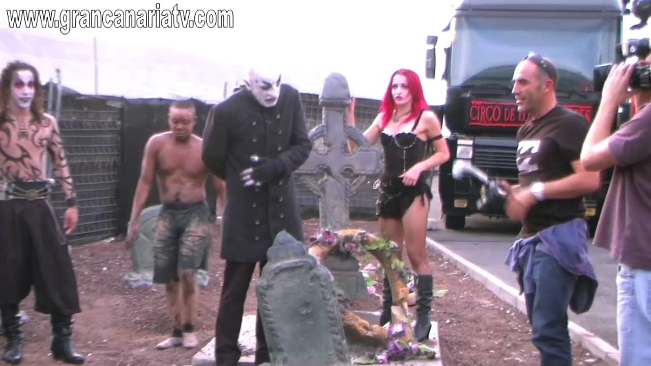 Backstage circo de los horrores maquillaje y previo con actores youtube - Gran canaria tv com ...