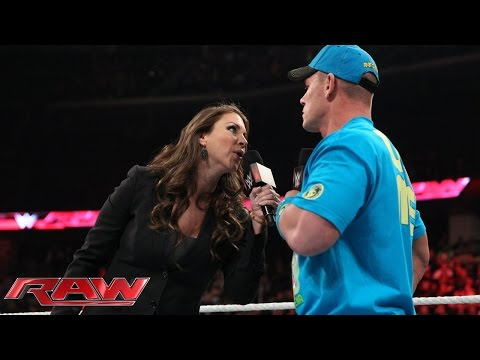 Stephanie Mcmahon Ponders A Wrestlemania Without John Cena: Raw, March 2, 2015 video