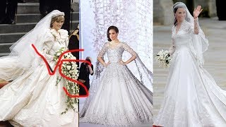 Here's how Meghan Markle's wedding dress compares to Princess Diana and Kate Middleton's gowns