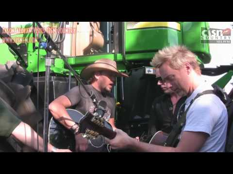 Exclusive - Jason Aldean Sings Big Green Tractor - On A Big Green Tractor! video