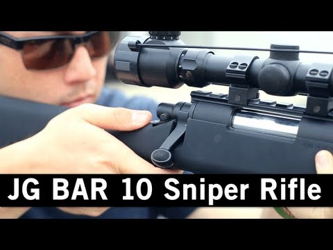 Airsoft GI - JG Bar 10 Bolt Action Spring Powered Sniper Rifle Gun Review