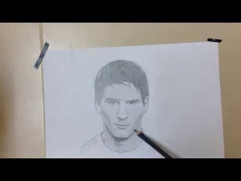 Messi Drawing