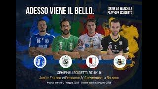 Serie A1M [Semifinale G2]: CONVERSANO-BOLZANO 28-27