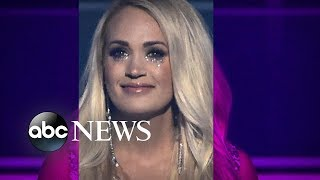 Download Lagu Carrie Underwood returns to the stage for 1st public appearance since accident Gratis STAFABAND