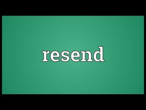 Header of resend