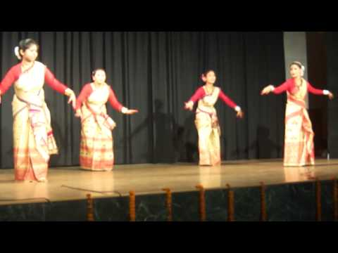 bihu dance jnu new delhi 2012