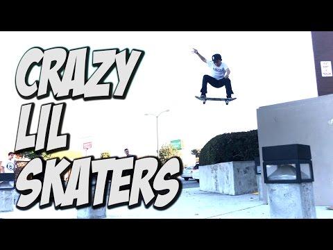 CRAZY LIL SKATER KIDS !!! - A DAY WITH NKA -