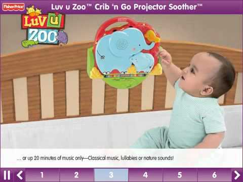Luv U Zoo Snuggle Cub Soother Mobile - YouTube.flv
