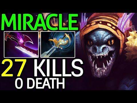 Miracle- [Slark] 24 Min 27 Kills Monster Wake Up 7.14 Dota 2