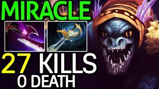 Miracle- [Slark] 24 Min 27 Kills Monster Wake Up 7.14 Dota 2
