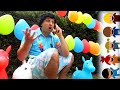 Kids And Dad Are Like Five Little Monkeys Jumping On Inflatable Chairs Nursery Rhymes by Chiki Piki