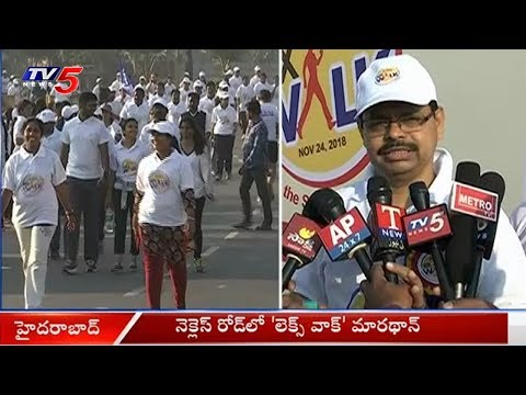 'Let's Walk Marathon' Conducted at Necklace Road, Hyderabad | TV5 News