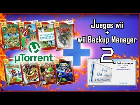 Como descargar juegos de Wii gratis + Wii Backup manager + Utorrent