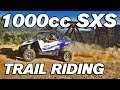 Trail Riding Triple Cylinder 1000 Cc SXS UTV YXZ1000 With Alba Silent But Deadly Exhaust Upgrade Kit