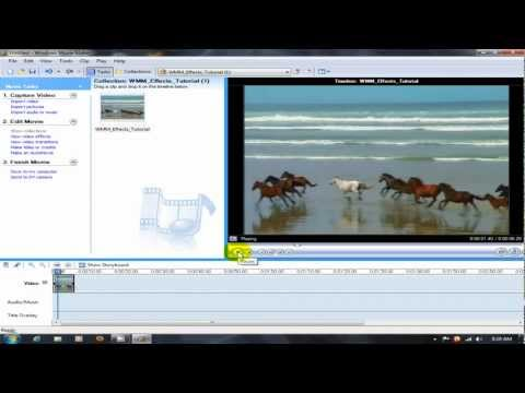 Creating movies with windows movie maker