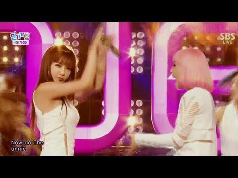 2NE1_0714_SBS Inkigayo_나쁜기집애+FALLING IN LOVE