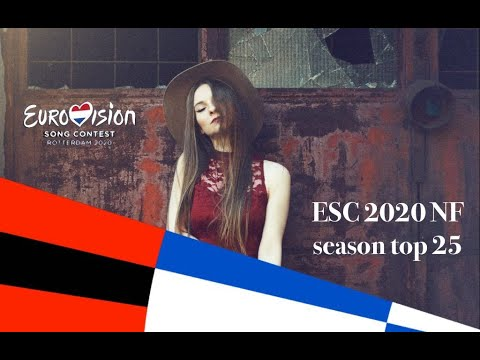 Eurovision 2020 National Final Season top 25