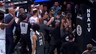76ers and Nets fight! Jimmy Butler & Jared Dudley ejected!