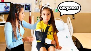 BROKEN ARM PRANK ON MOM * She Freaked Out * | Jancy Family