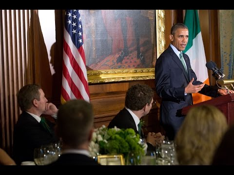 "The President and Prime Minister of Ireland Speak at the ""Friends of Ireland"" Luncheon"