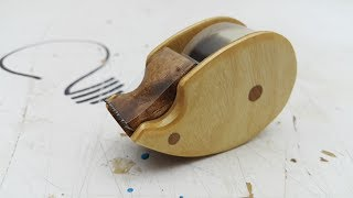 How to Make a Wooden Tape Dispenser