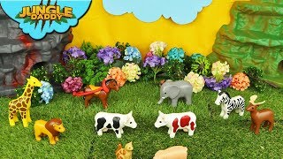 "LEARN ZOO ANIMALS Playmobil 123 Collection! ""Jungle Daddy"" farm safari animals for kids"