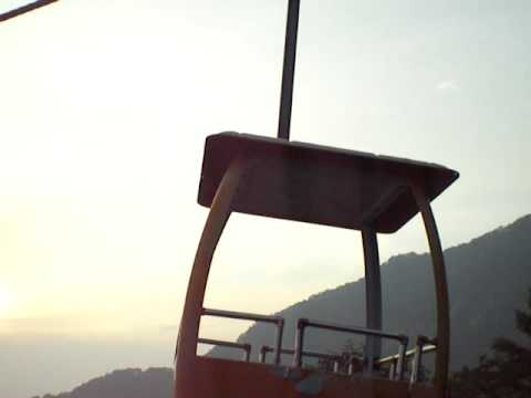 QSO on a cable car downhill from Wangwu Mountain, Henan