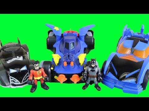 Imaginext Robin Chooses A Batman Batmobile For His Next Mission Against Man Bat And Solomon Grundy