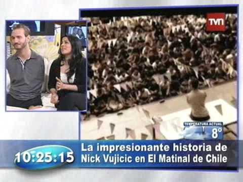 Nick Vujicic En Buenos Dias A Todos Tvn Chile Con Felipe Camiroaga [original - Completo]. video