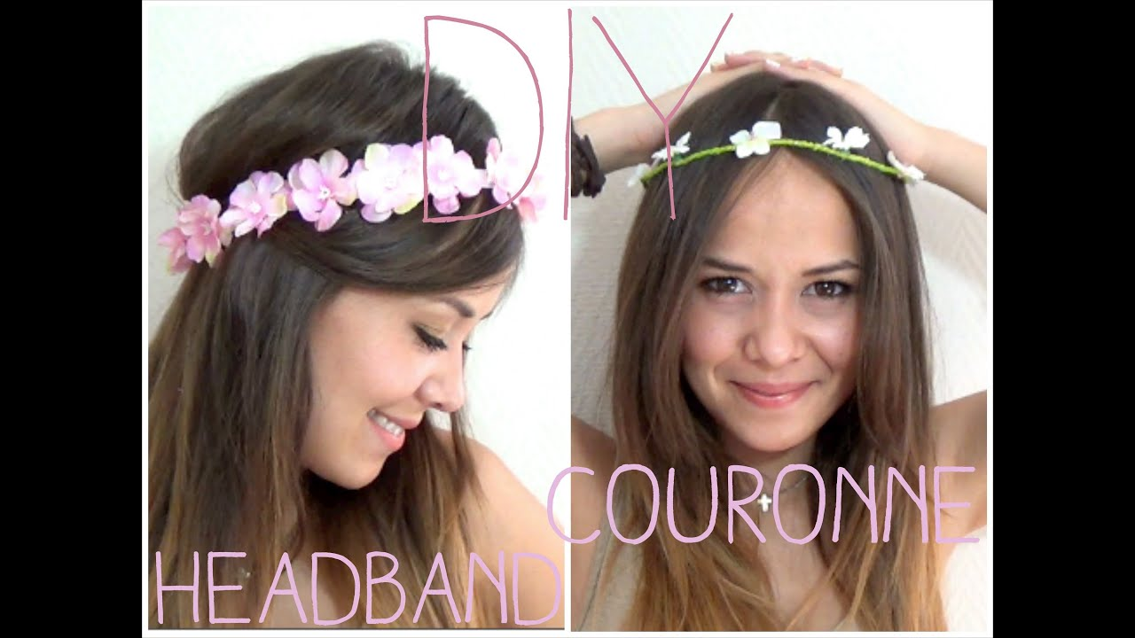 diy headband couronne de fleurs alyssia youtube. Black Bedroom Furniture Sets. Home Design Ideas