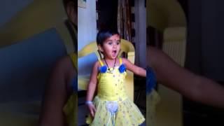 little girl saying kabali dialogue
