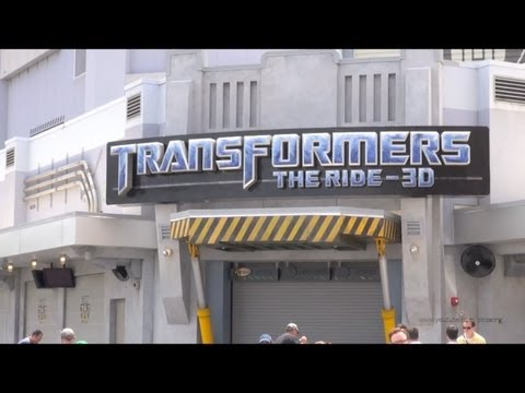 Transformers The Ride Construction Update Universal Studios Florida Simpsons Potter April 16th 2013