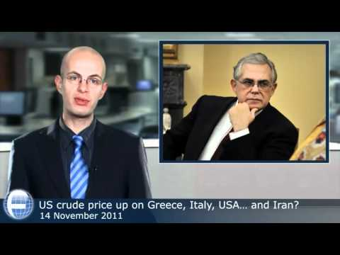 US crude price up on Greece, Italy, USA... and Iran?