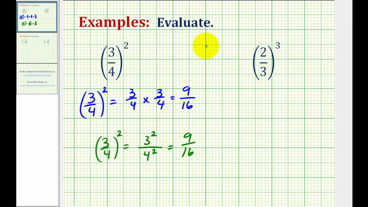 how to solve fraction powers
