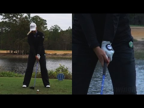 BRITTANY LINCICOME BIG HITTER - HANDS CLOSE UP DRIVER SWING 2014 TIBURON GOLF COURSE 1080 HD
