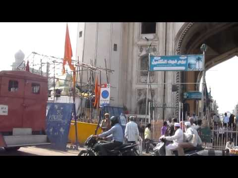 Illegal religious constructions at Charminar.mp4