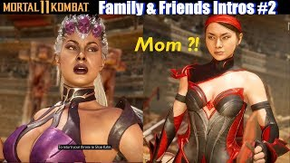 MK11 Family & Friends Intros (Updated Relationship Dialogues) - Mortal Kombat 11