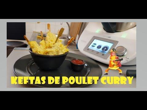 Recette Thermomix: Keftas de poulet au curry