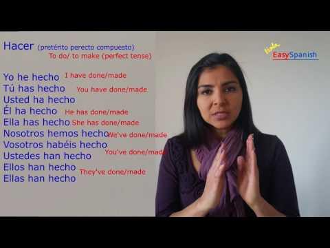 Easy Spanish, conjugate Verb Hacer, Learn Spanish, Español (latinoamerica)