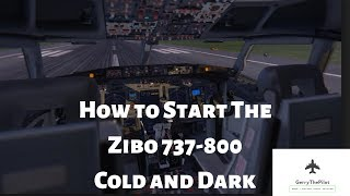 How to Start The Zibo 737-800 From Cold And Dark*X-PLANE11