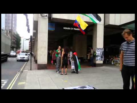 #live solidarity protest with Palestinian prisoner