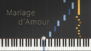 Mariage D 39 Amour Paul De Senneville George Davidson Synthesia Piano Tutorial