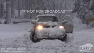 1-10-17 Tahoe City, California EPIC Snowfall 5-10 FOOT DRIFTS!