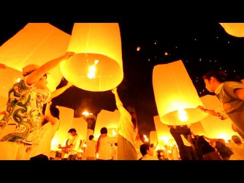 Floating Lanterns-4:12. Accident of Yee Peng lantern festival!