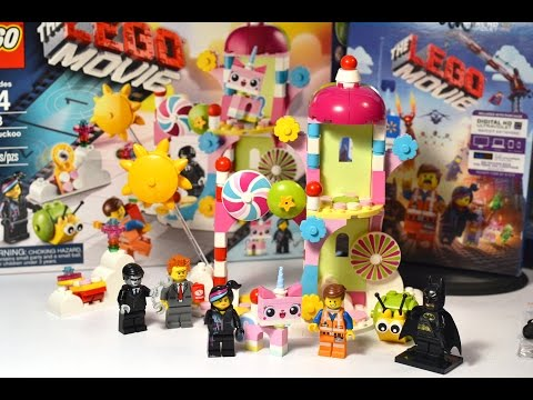 The LEGO MOVIE CLOUD CUCKOO PALACE Playset! Unikitty, Emmet, Wyldstyle